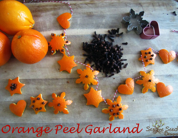 DIY Orange Peel Garland