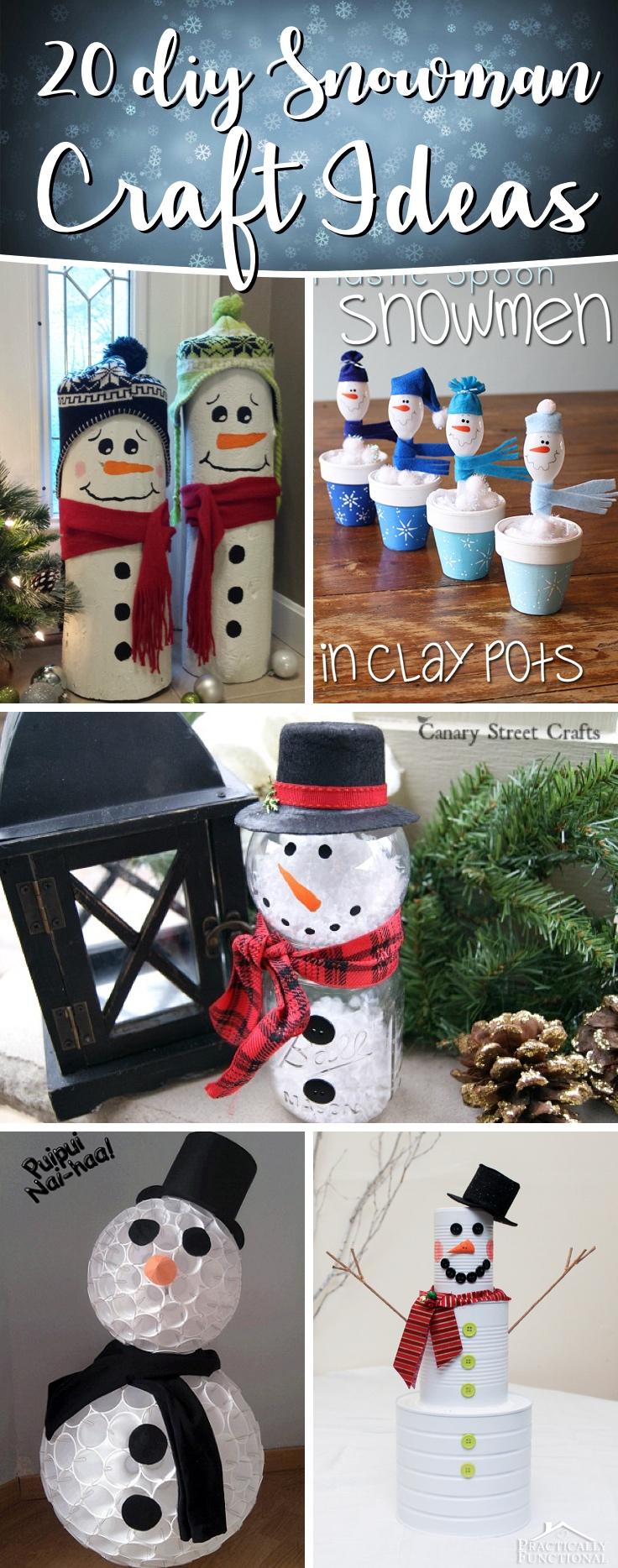 20 Diy Snowman Craft Ideas Making Christmas Even More