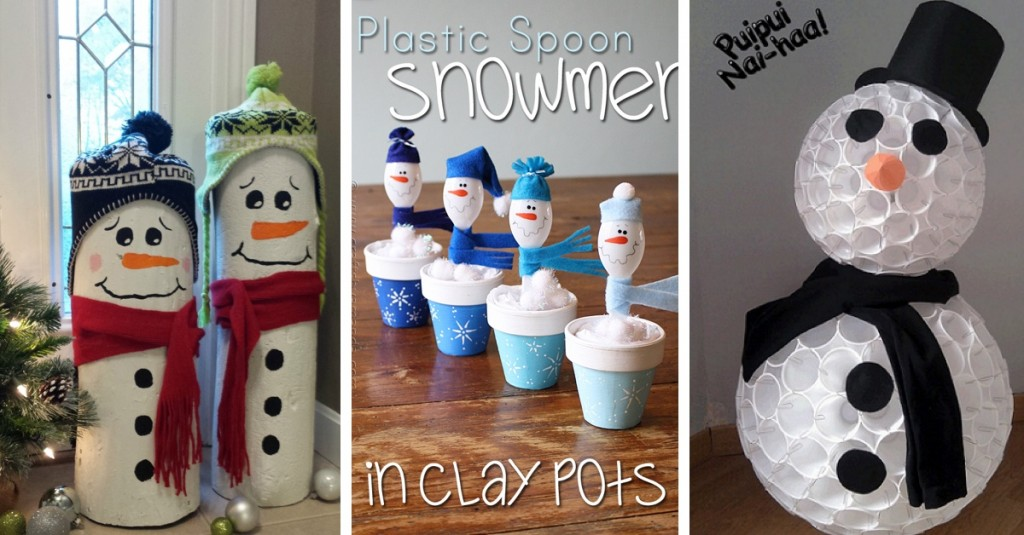 DIY Snowman Craft Ideas Making Christmas Even More Happiness-Worthy