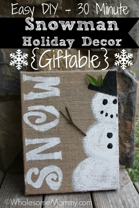 Easy Snowman Decor in 30 Minutes