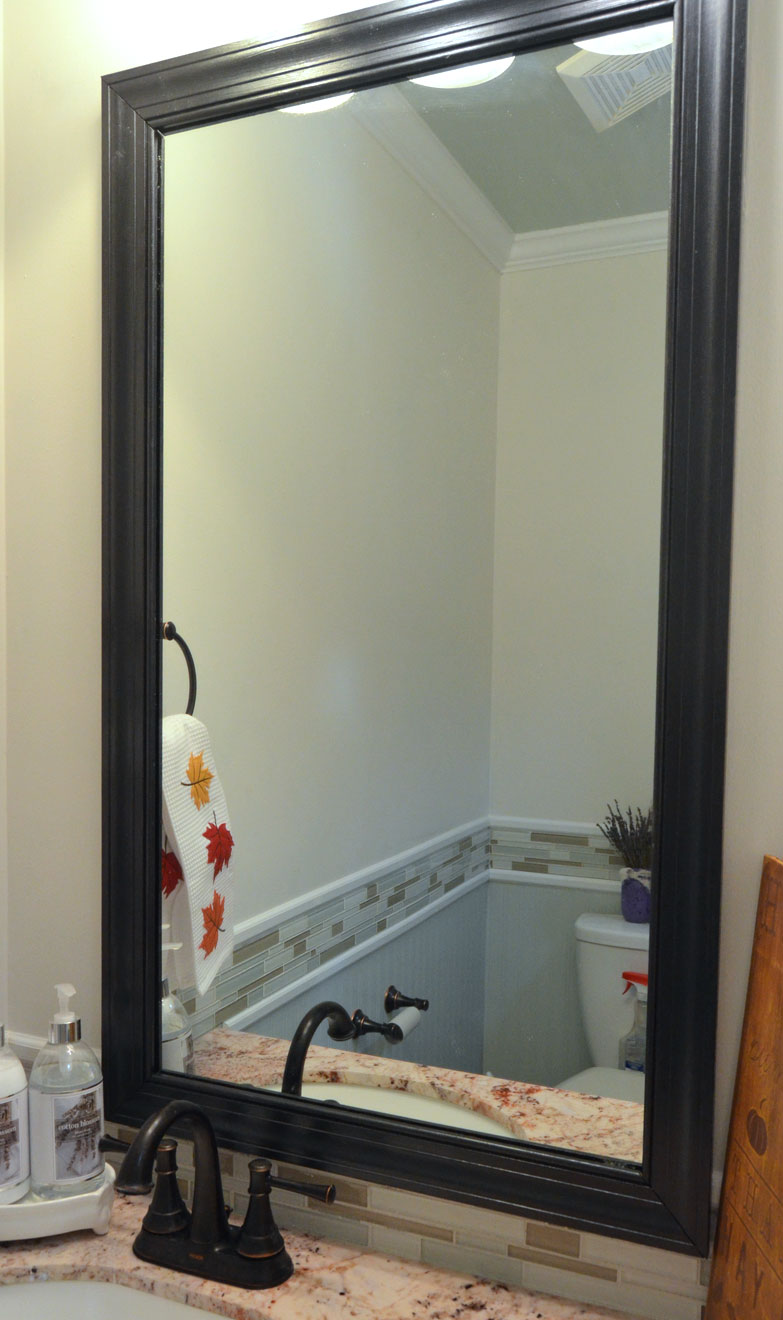 Frame a Mirror With Clips in 5 Easy Steps