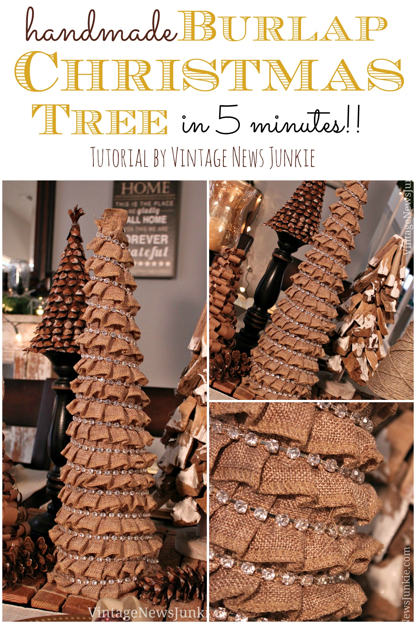 How To Make a Burlap Christmas Tree in Five Minutes