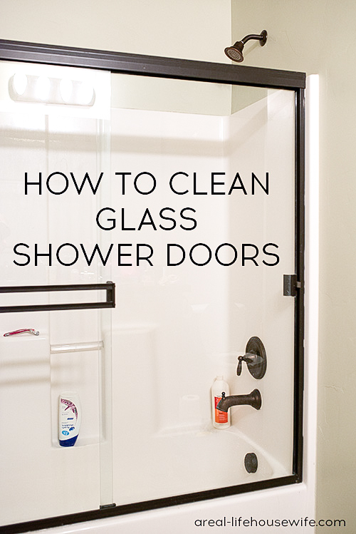 how to clean glass shower doors - Bathroom Cleaning Hacks