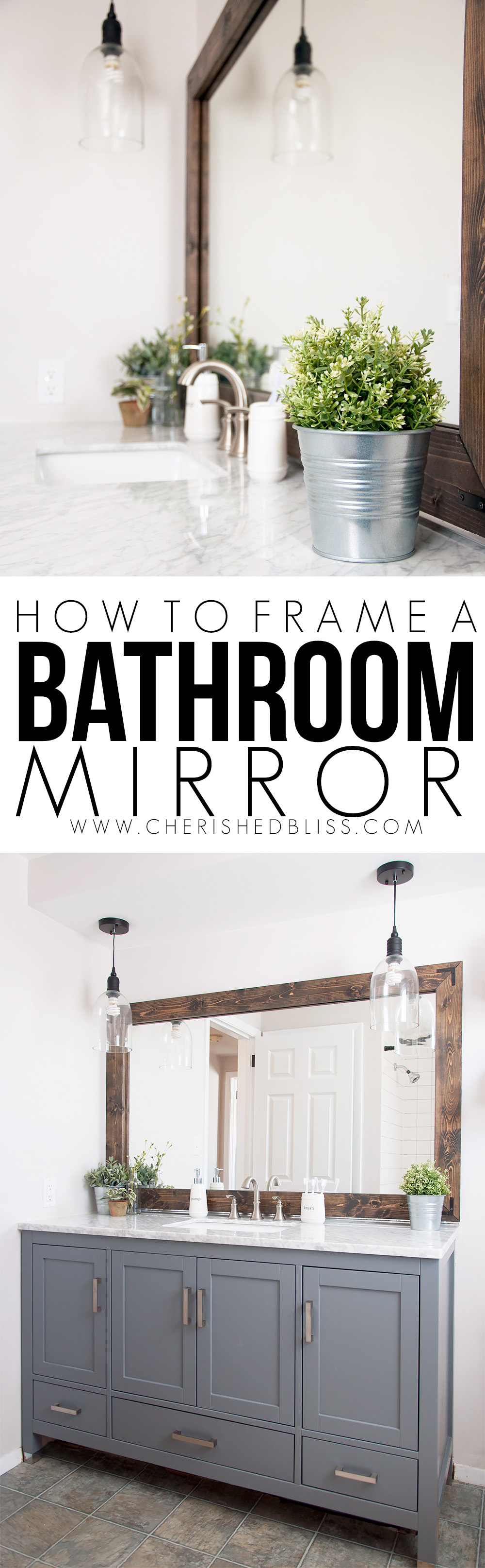 How to Frame a Bathroom Mirror – Cute DIY Projects