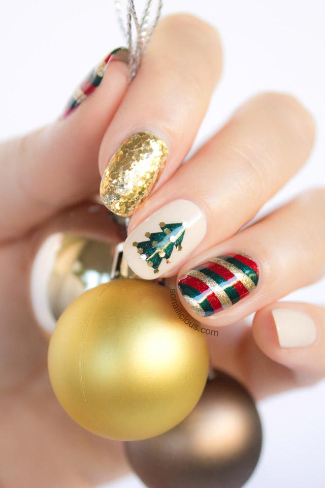 Mix'n'Match Christmas Nail Art Tutorial