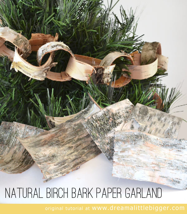 Natural Black Birch Paper Garland Tutorial