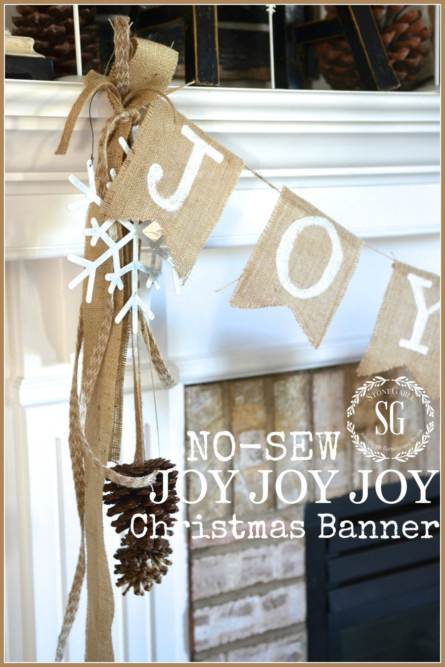 No Sew Joy Banner