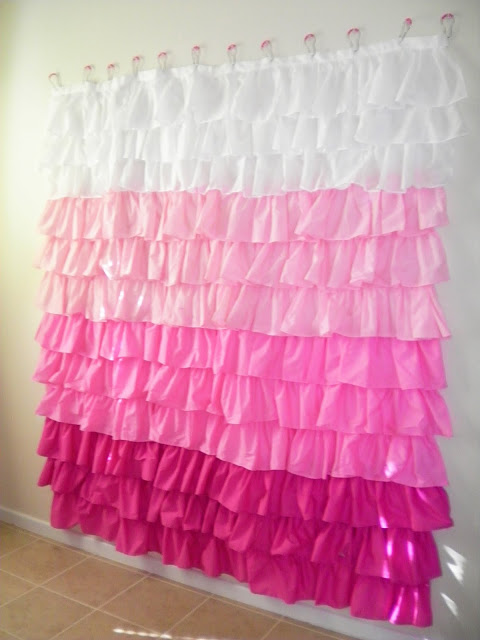 Oodles of Ruffles Shower Curtain