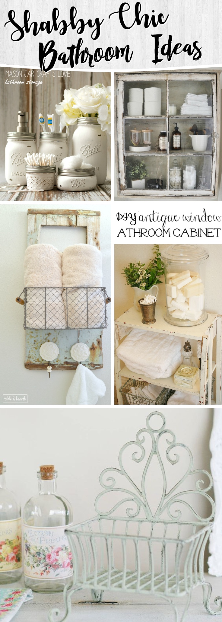 15 Shabby Chic Bathroom Ideas