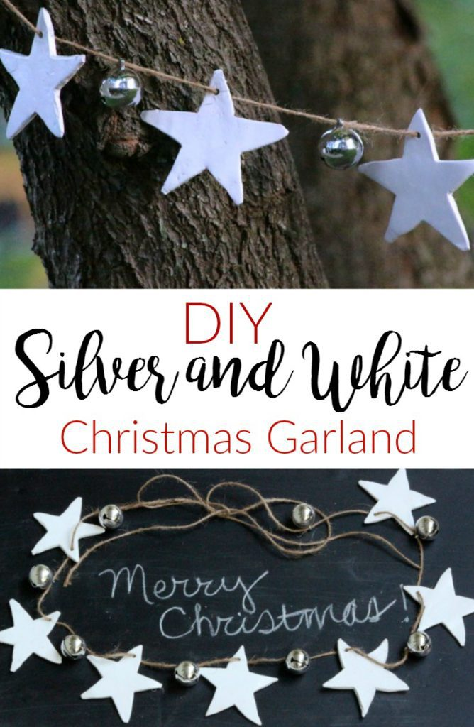 Silver White Christmas Garland