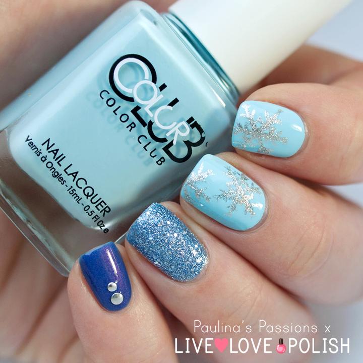 Snowflake Nail Art with Color Club Nail Polish