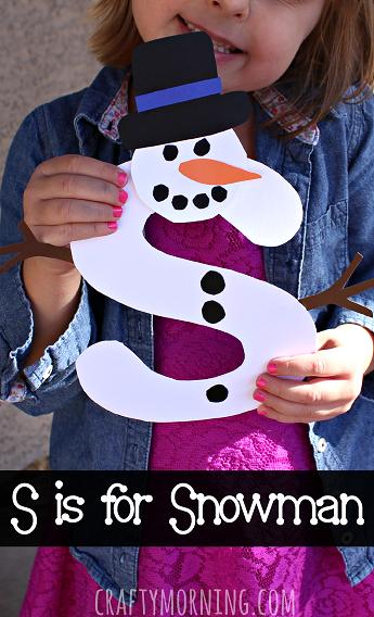 Snowman Winter Crafts for Kids