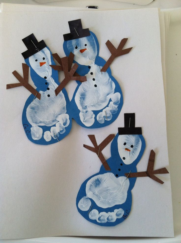 Snowmen Feet Craft Source Craftingforholidays