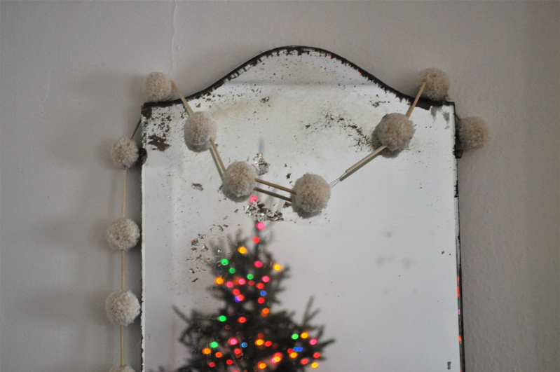 Straw and Pompom Garland