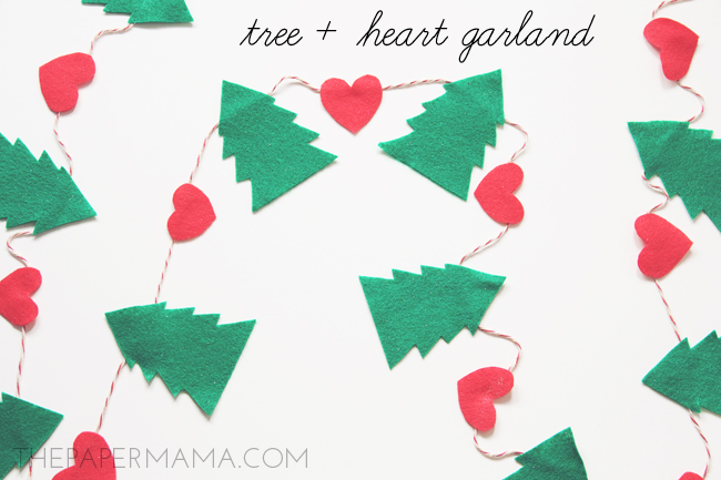 Tree Plus Heart Garland
