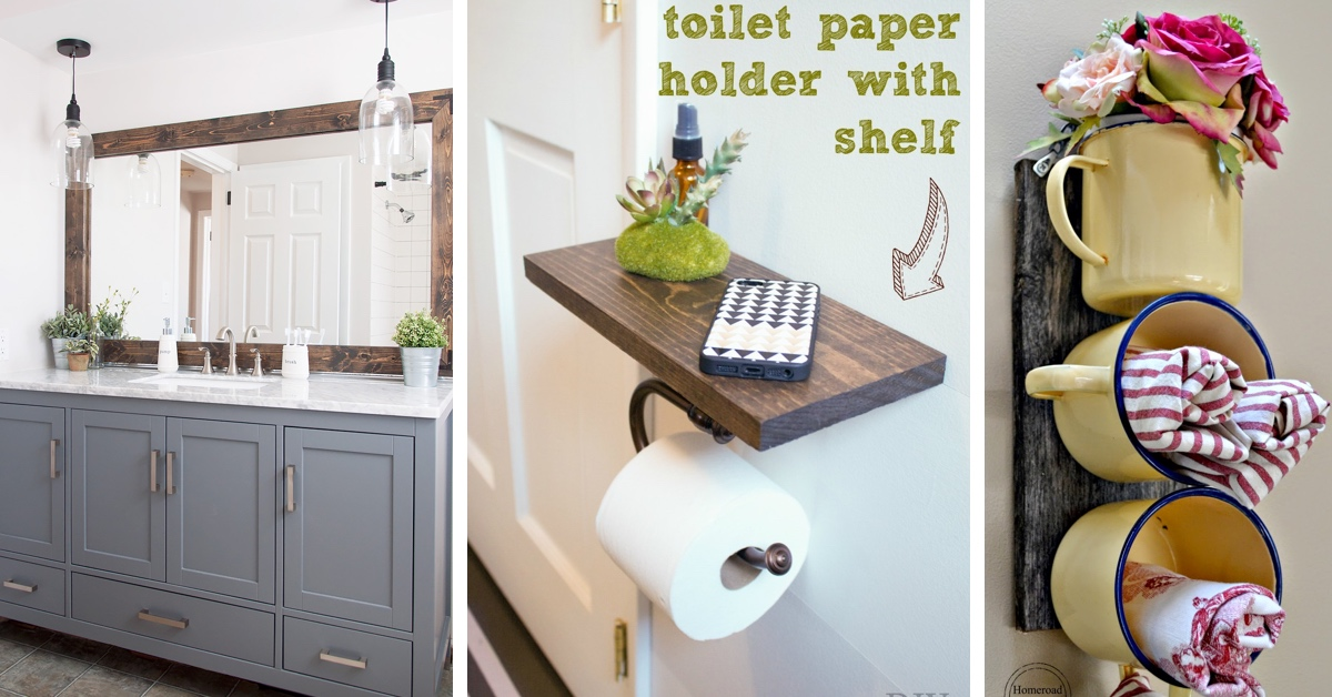 25 Utterly Innovative Diy Bathroom Projects To Give Your Space A Chic Makeover Cute Diy Projects