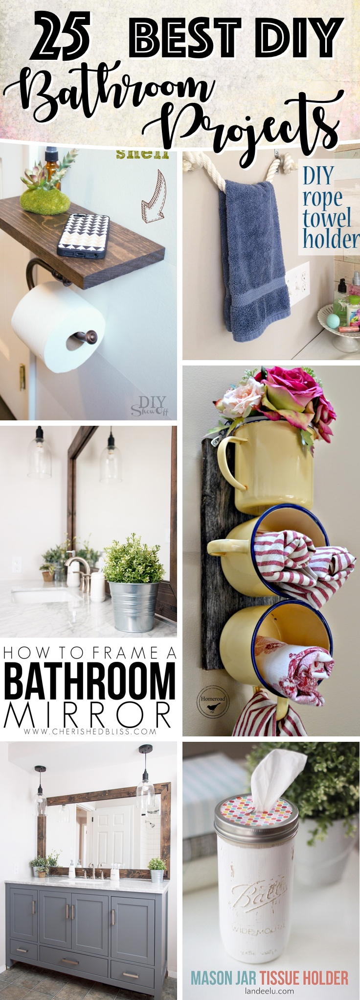 Utterly Innovative DIY Bathroom Projects To Give Your Space a Chic Makeover