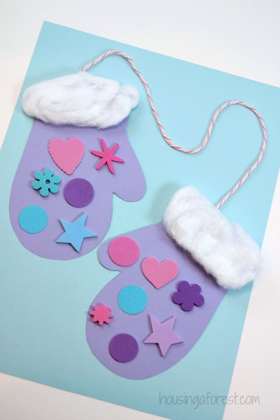 Winter Mitten Craft For Preschoolers