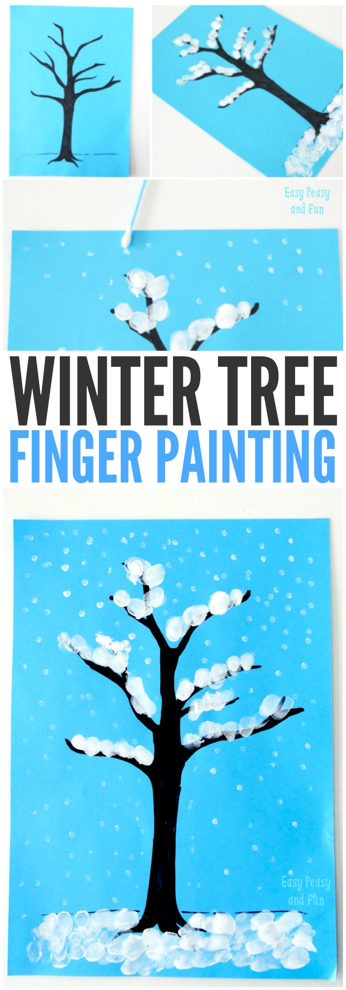 winter tree finger painting 25 winter crafts preschool and toddlers are going to 5742