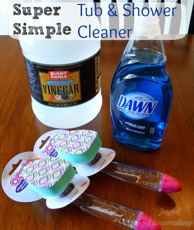 bathroom cleaning hacks 1 homemade simple shower and tub cleaner simplicityinthesouth - Bathroom Cleaning Hacks