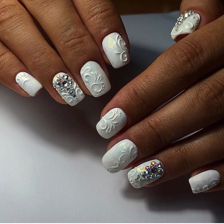 3D Nail Art With Colored Embellishments