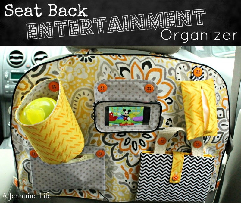 Back Seat Entertainment Organizer