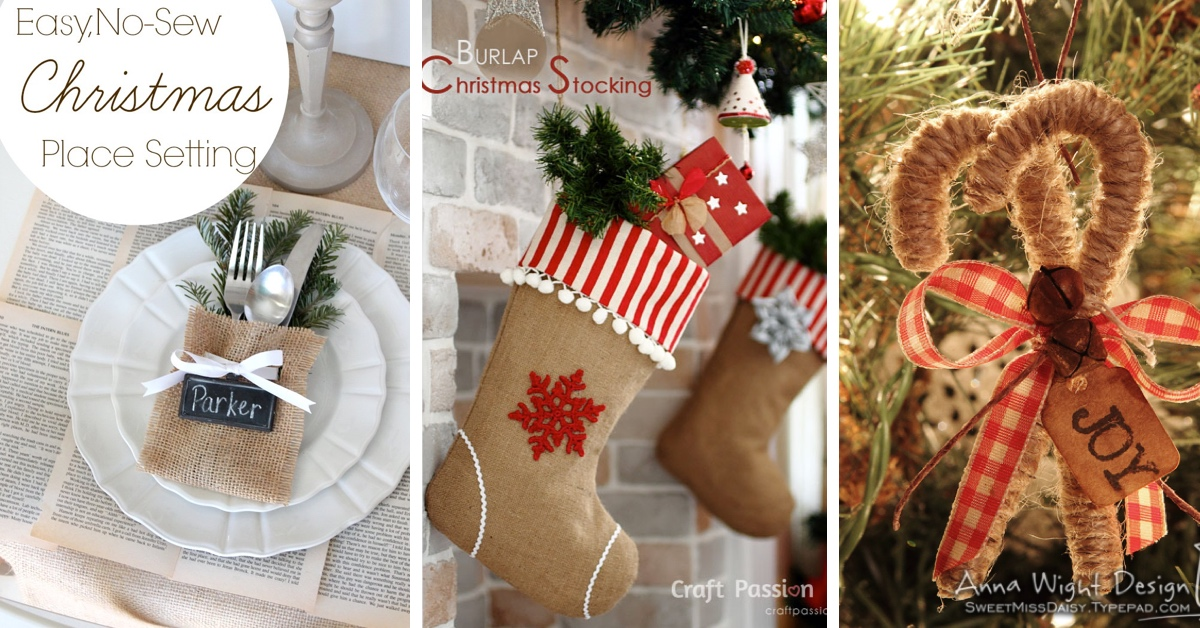 Diy burlap christmas decorations imgkid the