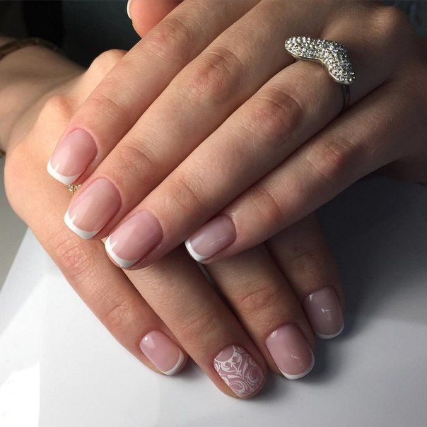 Classic French Manicure with a Twist
