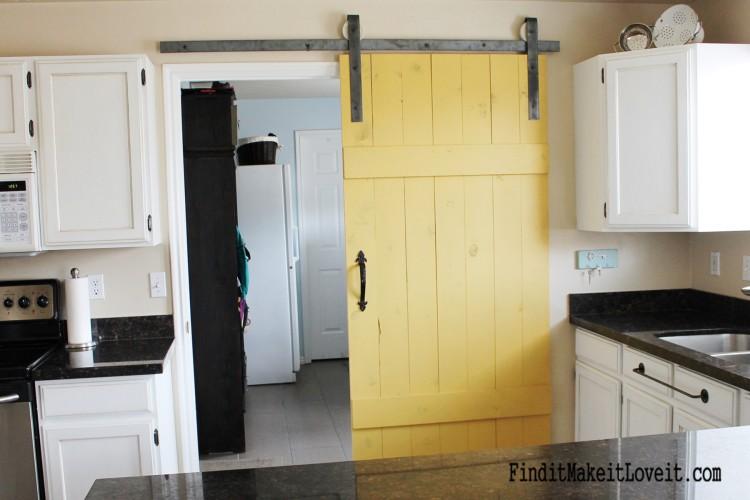 DIY Barn Door For Your Subtle Kitchen
