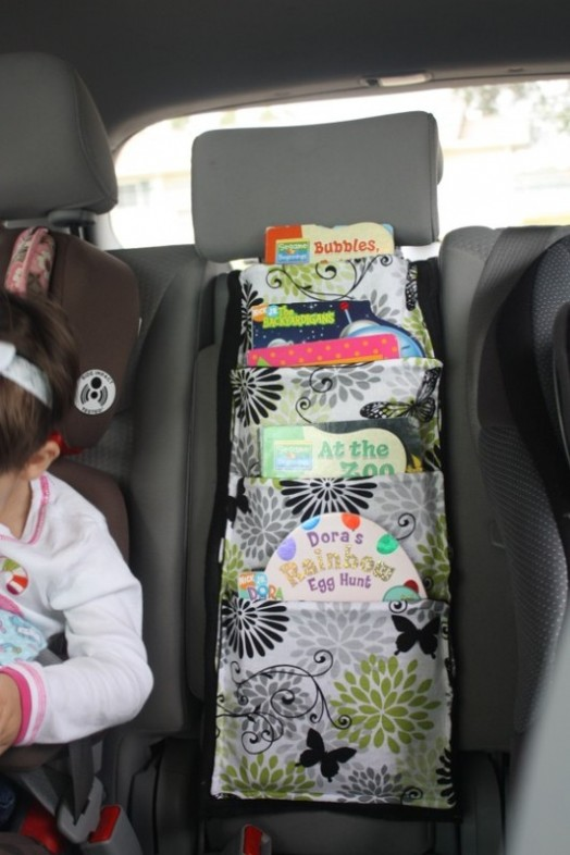 DIY Car Travel Book Storage For You And Your Kid