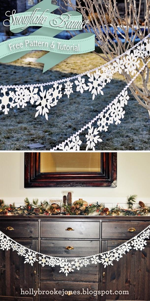 DIY Felt Snowflake Banner
