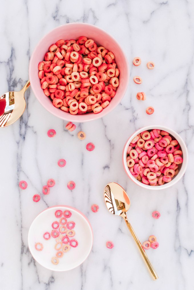 DIY Pink and Red Cheerios