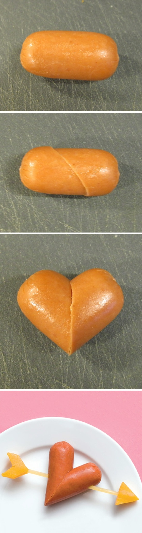 DIY Sausage Heart