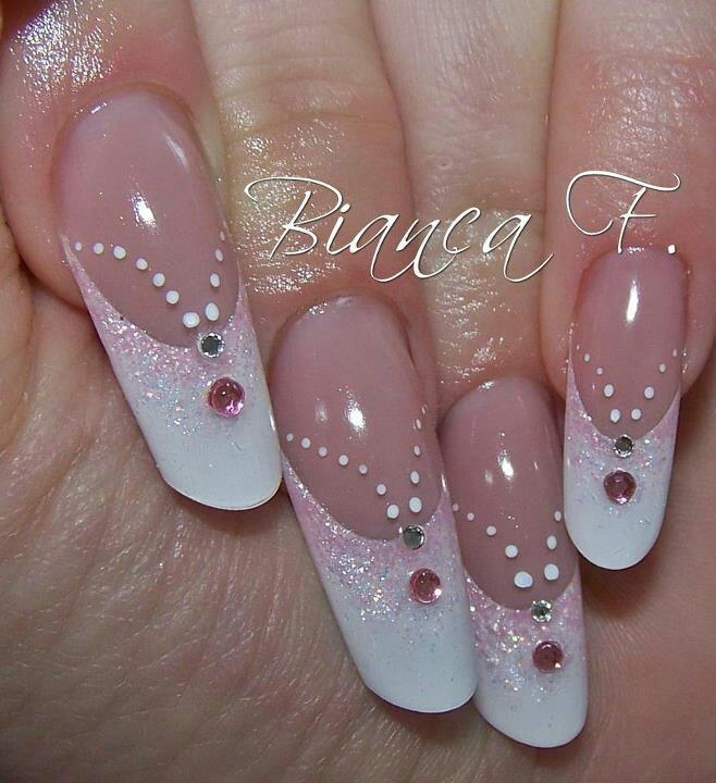 Dramatic Wedding Nail Art