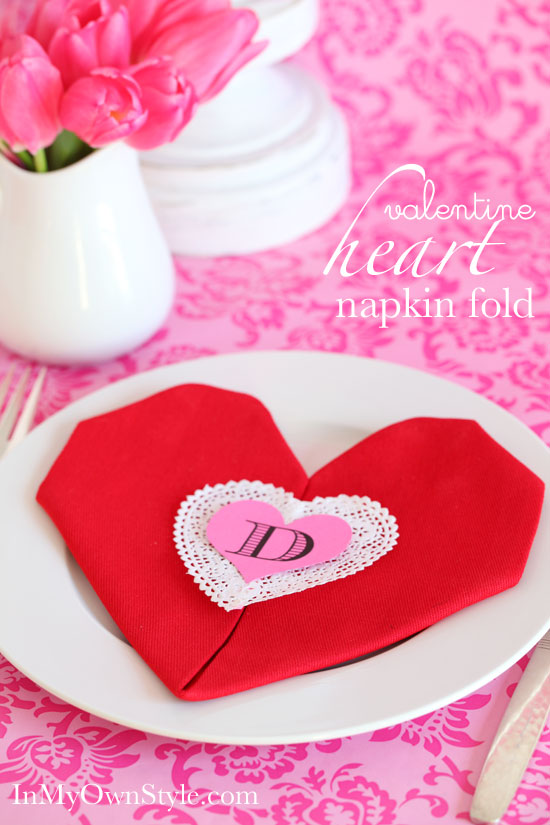 Easy Heart Shaped Napkin Fold