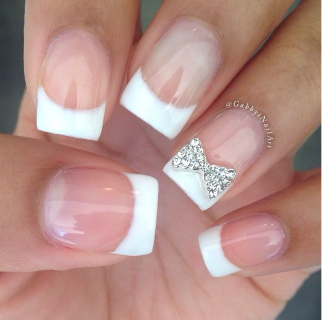 Embellishment Bow Wedding Nails