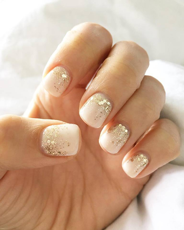 Glitter Wedding Manicure