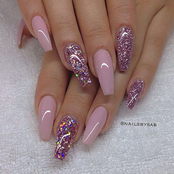 Glitters and Solid Pinks
