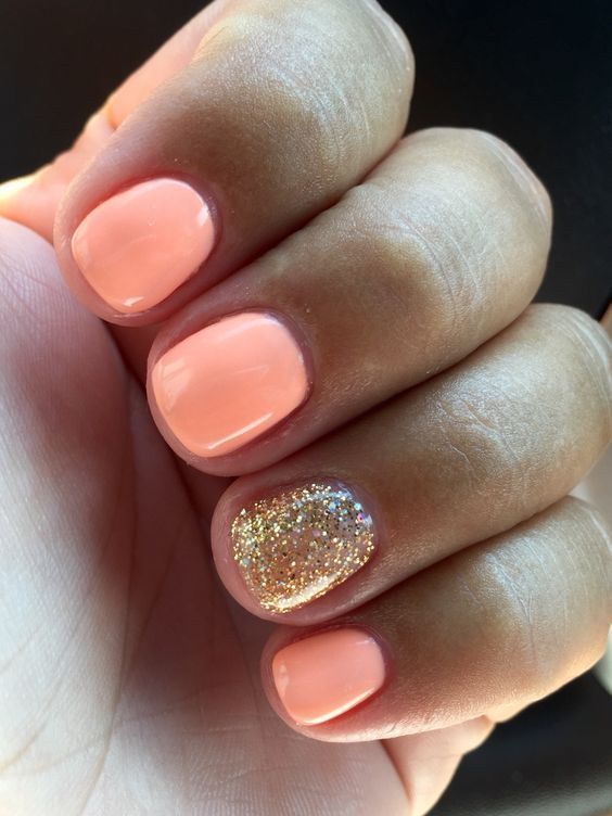 9 golden accents are all magic - Gel Nail Design Ideas