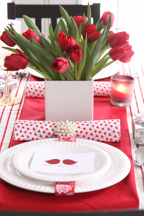 Hadmade Valentine's Day Tabletop