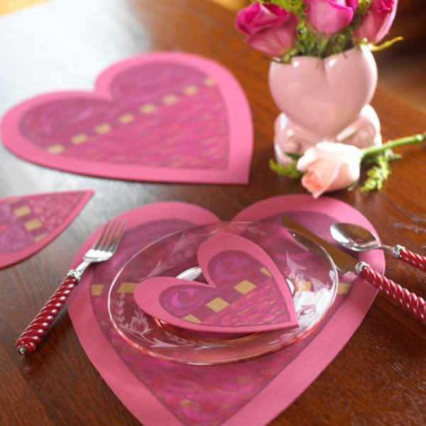 Heart-Shaped Placemats