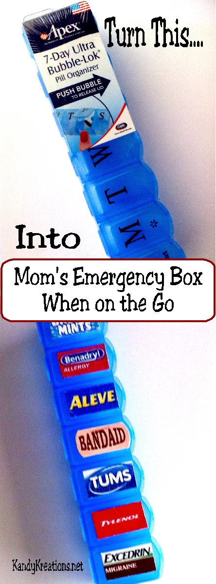 Moms Emergency Box when on the Go