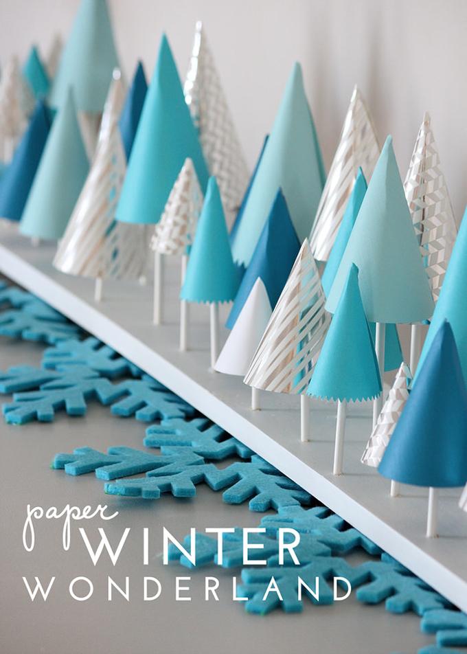 Paper Winter Wonderland Decor