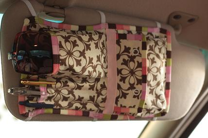 Sewing Tutorial: Car Visor Organizer