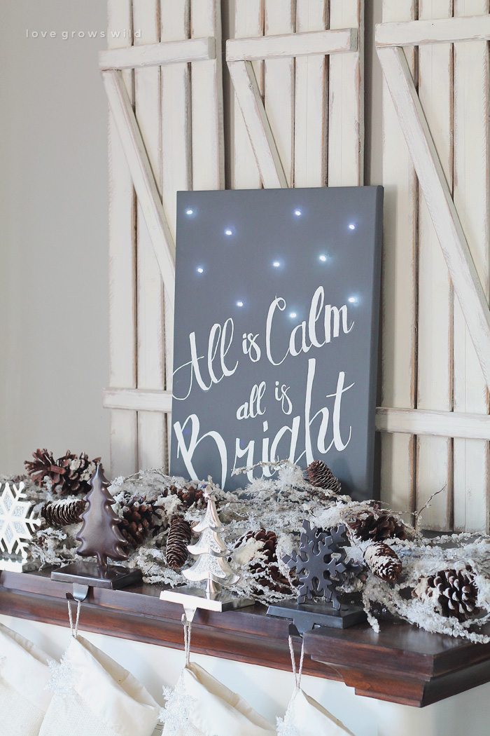 Silent Night Twinkle Light Canvas