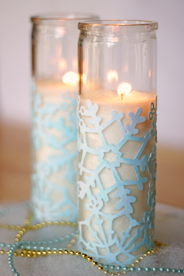 Snowflake Craft : Cute Winter Votives