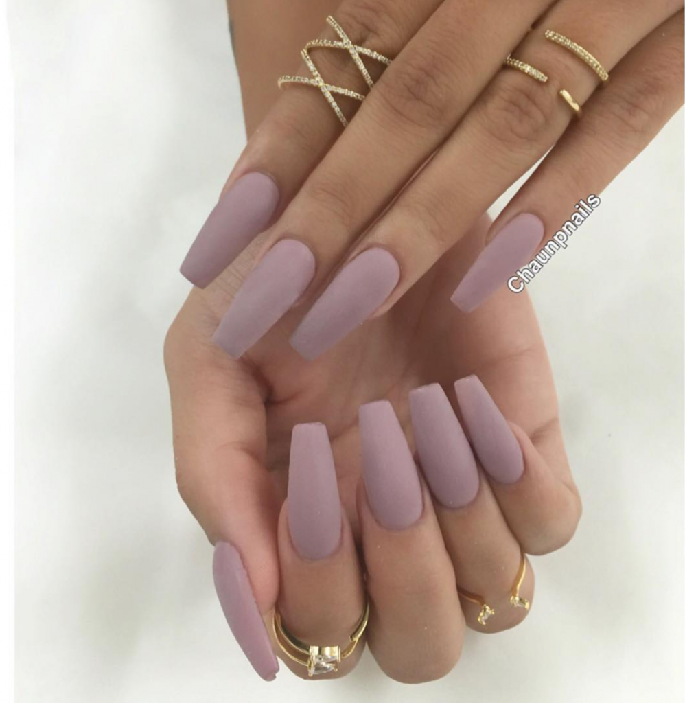 Solid and Subtle Matte Gel Nails