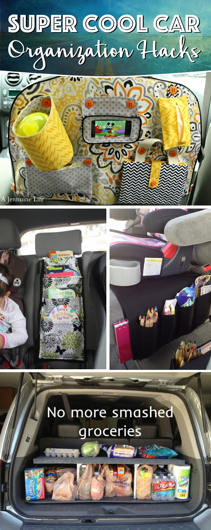 Diy car organizer hacks 15