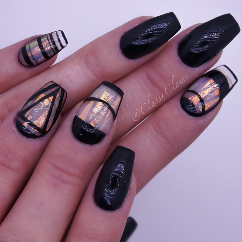 The Black Queen Nail Art