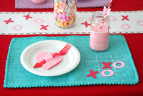 Valentine's Day Party Candy Table Centerpiece